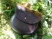 leather-hard pouches-woodland bushacrft pouch-brown-in leaves