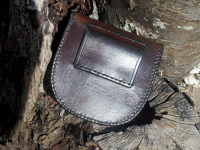 leather-hard pouches-woodland bushacrft pouch-brownback