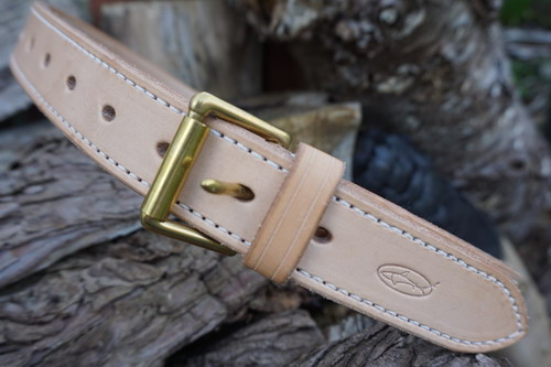 MADE 2 ORDER - Leather Top Stitched  'Navardo' Belt (45------)