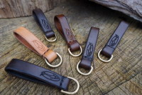 BESPOKE - Utility Belt Loop with Solid Brass 'D' Ring in 16mm or 25mm Widths - SADDLE STITCHED (45-7016)