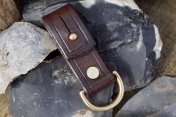 BESPOKE - Riveted Belt Loop with Solid Brass 'D' Ring & Sam Browne Fastening - Width: 16mm or 25mm (45-7866)