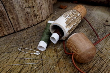 Sami Pots with antler and yew by Scott at beaver bushcraftplus accessories