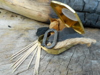 Fire-brass trappers tinderbox with tinder by beaver bushcraft