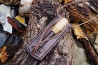 Beaver Bushcraft - Hand Stitched Leather Survival Neck Sheath (45-9430)