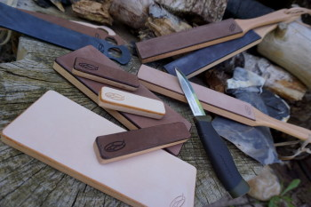 Sharpening new range of strops now in made by shark designs for beaver bush