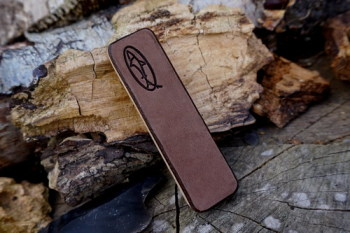 Sharpening-single sided mini pocket mink strop by shark designs for beaver