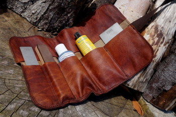 Sharpening-leather tool roll