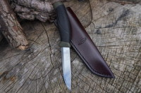BESPOKE - Leather Bushcraft Knife Sheath for Mora Knives - High Ride - SADDLE STITCHED (45-4010)