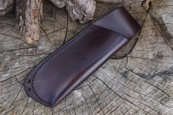 BESPOKE - Hand Stitched Leather Folding Saw Sheath with Lanyard Holes for Laplander Saw (45-4210)