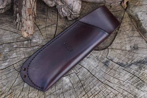 HAND STITCHED - Leather Folding Saw Sheath with Lanyard Holes for Laplander