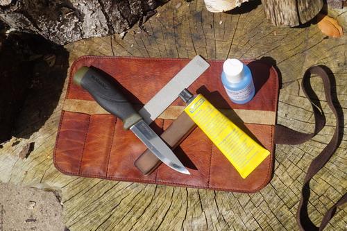 Razor Shark - Bushcraft & Survival Diamond Sharpening Kit with Leather 'Pos