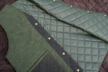 Waistcoat close up by Green Outdoors for Beaver Bushcraft
