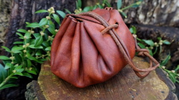 leather-soft oiled merchant pouch