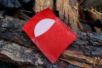 Fire-lens in suede pouch