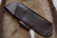 BESPOKE - Leather Folding Saw Sheath with Lanyard Holes for Laplander or Silky Saw - SADDLE STITCHED (45-4206)