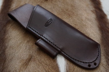 BESPOKE - Leather Folding Saw Sheath with Lanyard Holes for Laplander or Silky Saw - SADDLE STITCHED (45-4206)