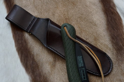 HAND STITCHED - Leather Scandinavian Style Saw Sheath for the Laplander or