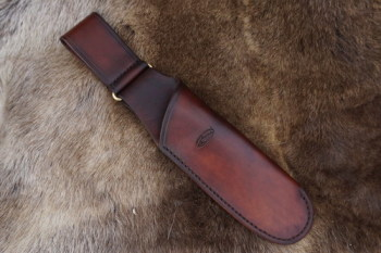 BESPOKE - Hand Stitched Leather Scandinavian Style Saw Sheath for the Laplander (45-4220)