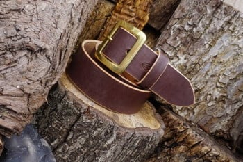 leather belt 101 ready 2 go in choc brown