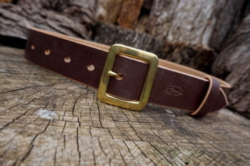 leather belt 101 ready to go in chestnut brown