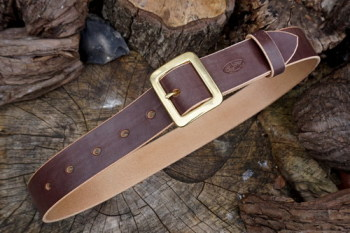 leather belt 101 showing interior ready to go