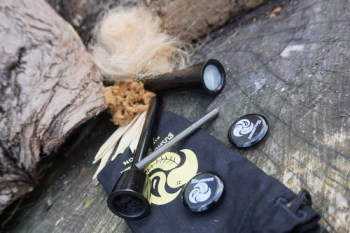 fire black fire piston with tinder for beaver bushcraft