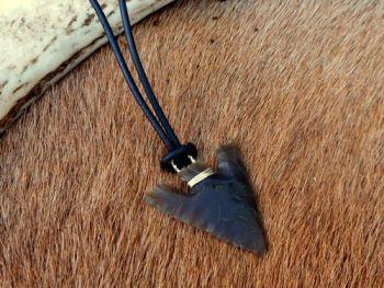 NEW - Hand Knapped Norfolk Flint Arrow Head Pendant by William Lord
