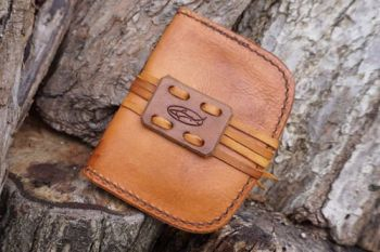 leather pocket tinder pouch for tinderbox for beaver bushcraft