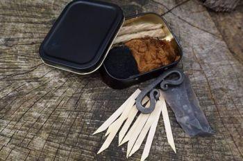 Fire 1oz tinderbox kit for beaver bushcraft