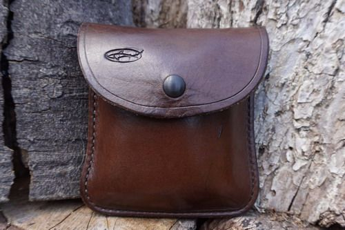 Second - Leather 2oz Portrait 'Possibles' Pouch with Military Spec Press St