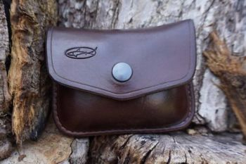 leather small 1oz pouch sample in brown
