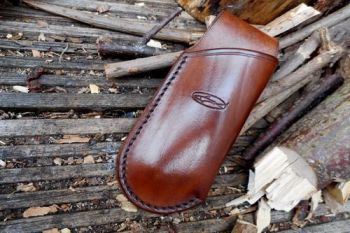 BESPOKE - Leather Mini Japanese Pocket Folding Saw Sheath - SADDLE STITCHED (45-4230)