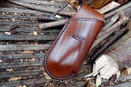 BESPOKE - Leather Mini Japanese Pocket Folding Saw Sheath (45-4520)