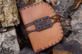 leather pioneering pouch in oiled calf