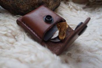 fire hand stitched dark dark hazel belt loop pouch by open beaver bushcraf