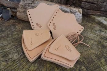 leather granfors bruks set in natural russet by Beaver Bushcraft