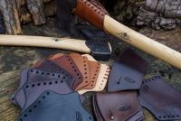 BESPOKE - Gransfors Bruks Hand Stitched Axe Head Sheath & Matching Over Strike Protector - Combo