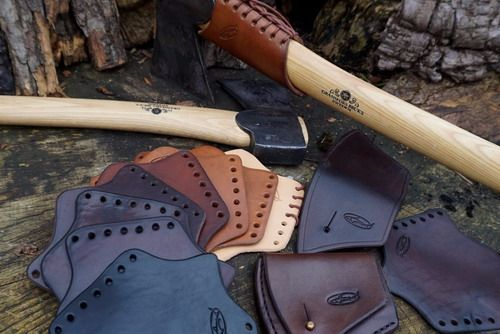 BESPOKE - Gransfors Bruks Hand Stitched Axe Head Sheath & Matching Over Str
