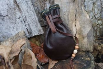 leather soft brown leather medicine pouch by beaver bushcraft