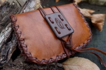 leather hand stitched hand stitched pioneer pouch r2g by beaver bushcraft