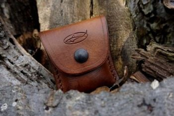 fire and leather press stud mini fire lighting kit for beaver bushcraft in