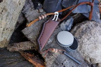 leather and blades chestnut brown kit for beaver bushcraft