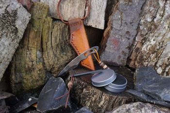 leather and blades at beaver bushcraft