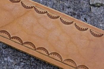 leather tooling example for beaver bushcraft