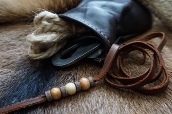 leather & Fire tinder pouch with andrew kirkham fire steel all made for bea