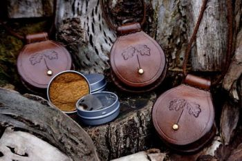 Fire Beaver Bushcraft mini mini leather pendant tinderboxes