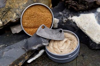 Fire mini mini round tinderbox with flint & steel for beaver bushcraft