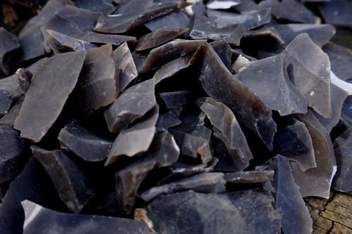 1 x Bag Specially Hand Knapped Small Norfolk Flint Shards (Approx 500g)