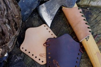 leather small overstrike protector at beaver bushcraft