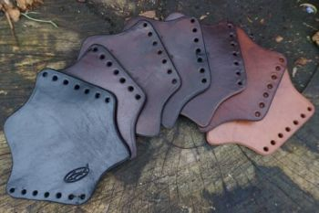 Hand Crafted - Leather Axe Over Strike Protector / Axe Collar Guard (45-9020)